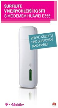 HUAWEI cestovní datová TWIST sada, Online SIM 200 Kč + USB/WiFi modem Huawei E355 - E355