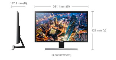"Samsung LED LCD 24"" U24E590 - PLS/3840x2160/1000:1/4ms/300cd/DP/2xHDMI - LU24E590DS/EN"