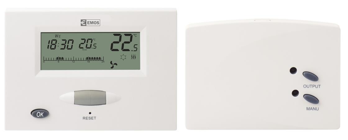 Emos T13RF pokojový termostat, programovatelný, bezdrátový - 2101305000