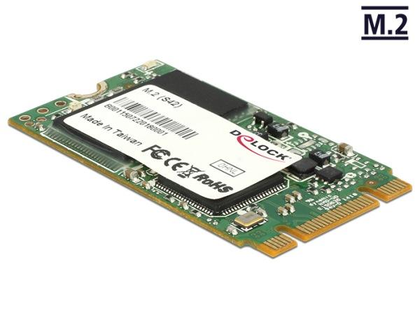 Delock M.2 NGFF SATA 6 Gb/s SSD 128 GB (S42) Micron MLC -40°C ~ +85°C - 54720