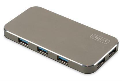 Digitus USB 3.0 Hub 7-Port, vč. 5V / 3,5A Napájení černá / mat - DA-70241