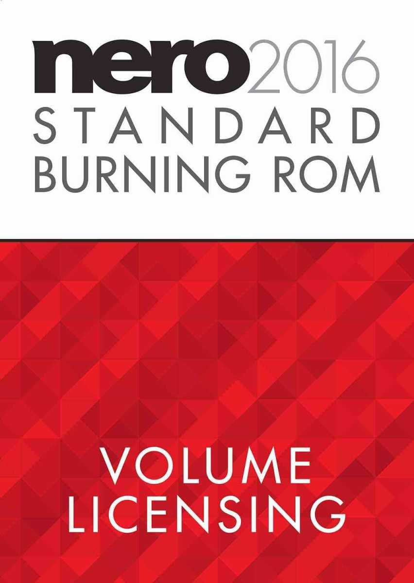 Nero 2016 Standard - Burning ROM VL without Maintenance 5-9 Users Corporate Edition - EMEA-20060001/COR-1