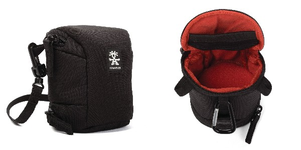 Crumpler Base Layer Lens Case S - black/rust red - BLLC-S-001