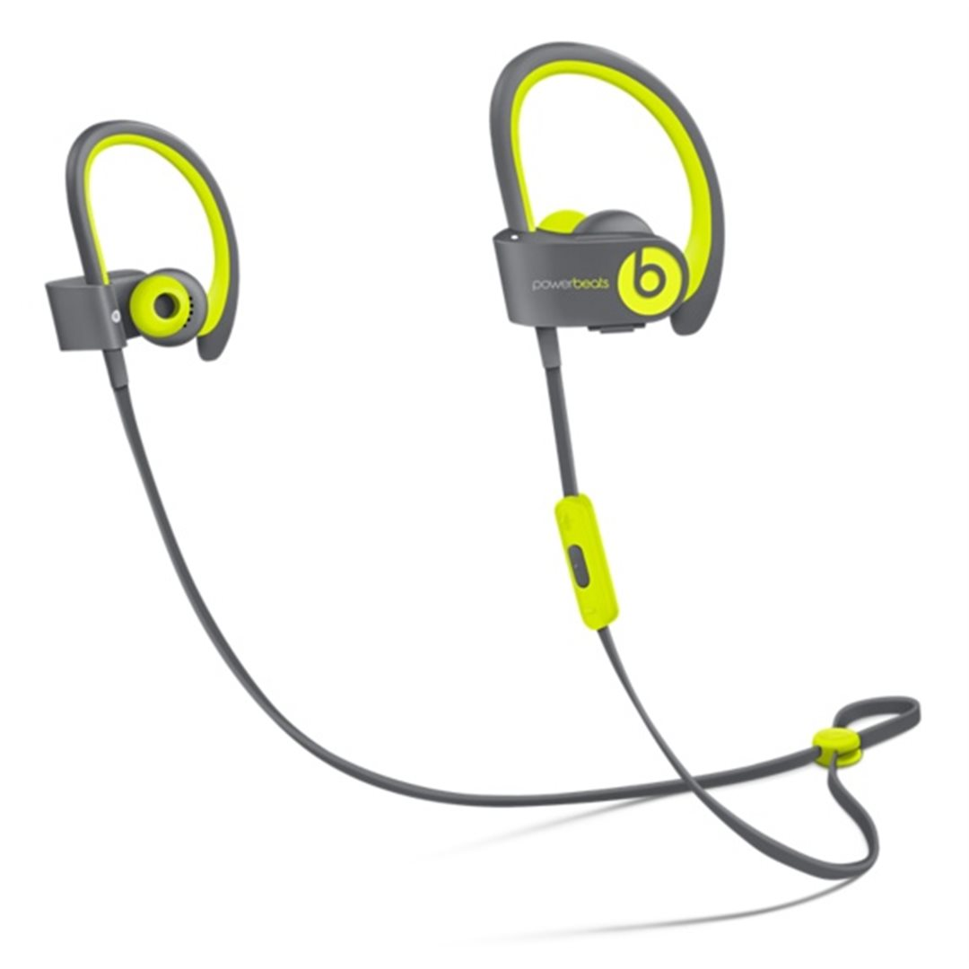 Apple Beats by Dr. Dre Powerbeats 2 Wireless In-Ear Headphones Active Collection - Yellow - MKPX2ZM/A