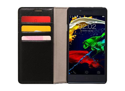 Pouzdro pro Lenovo Smartphone P70 Flip Case Black -