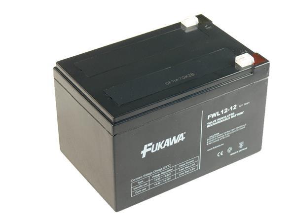 Baterie FUKAWA FW12-12 (12V/12Ah - Faston 250) desetiletá životnost - FWL 12-12