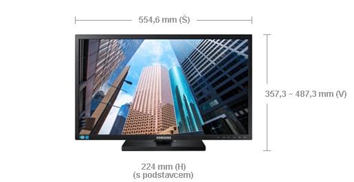 """Samsung LED LCD 24"""" S24E650 - PLS/1920x1200/1000:1/4ms/250cd/D-SUB/DVI/DP/USB - LS24E65UDW/EN"""