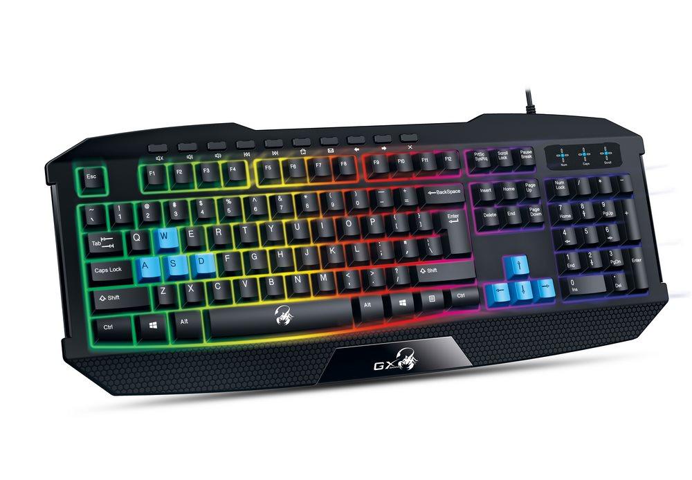 GENIUS GX GAMING Scorpion K215/ Herní drátová klávesnice/ podsvícená/ USB/ černá/ CZ+SK layout - 31310474106