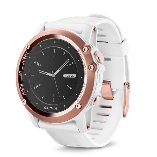Garmin fenix3 Sapphire (Rose),chytré hodinky,GPS/GLONASS, výškoměr, barometr, kompas, teploměr,BT - 010-01338-51