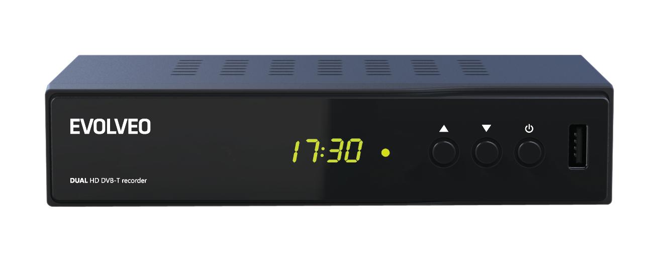 EVOLVEO Delta HD, Dual HD DVB-T rekordér, USB, HDMI, Scart, dig. koax, MKV, DiVX, MPG, MP3, MOV nebo - DT-4050HD