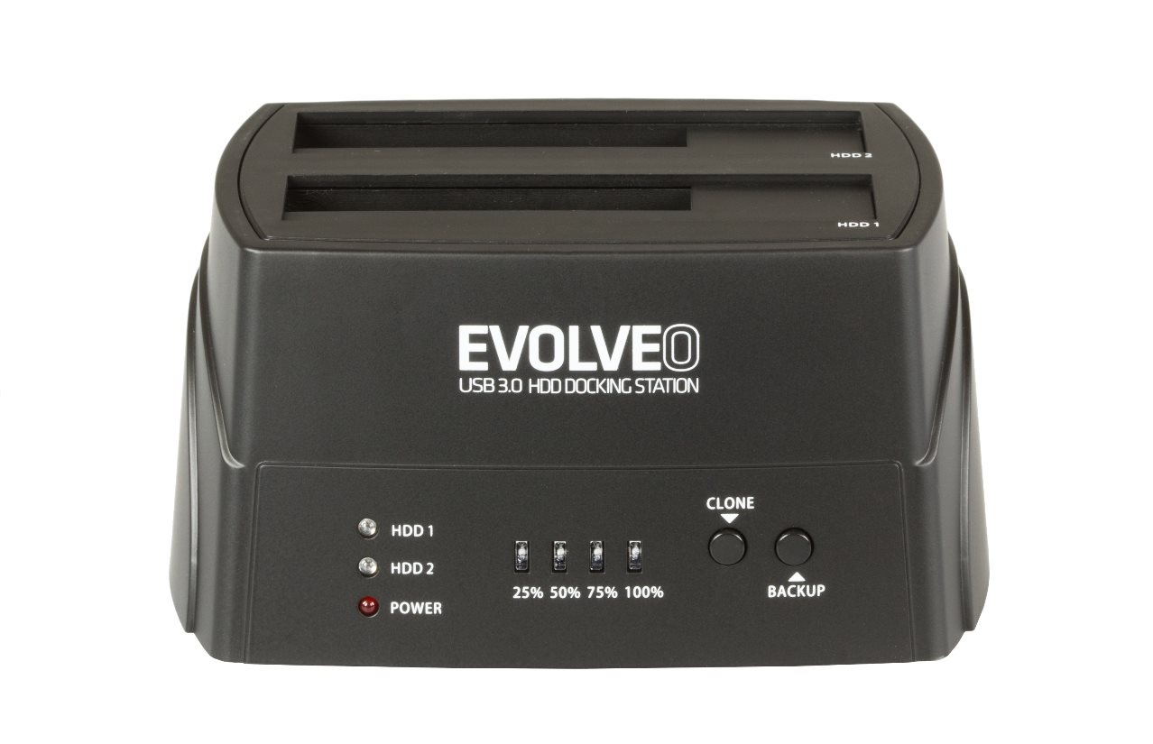EVOLVEO HDD dokovací stanice, USB 3.0 , 1x HDD do 4TB nebo 2x HDD do 3TB - BN-D4U3P
