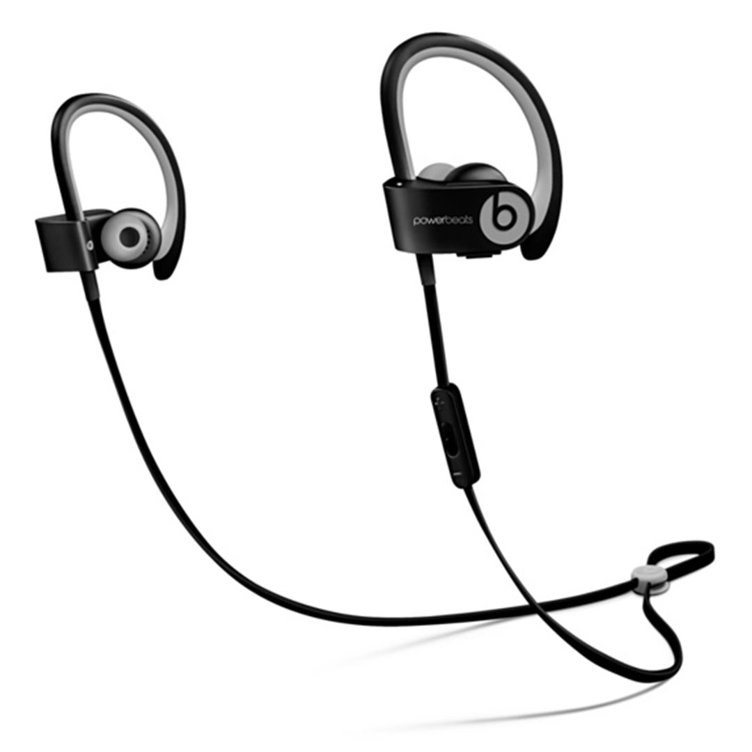 Apple Beats by Dr. Dre Powerbeats 2 Wireless In-Ear Headphones Active Collection - Black Sport - MKPP2ZM/A