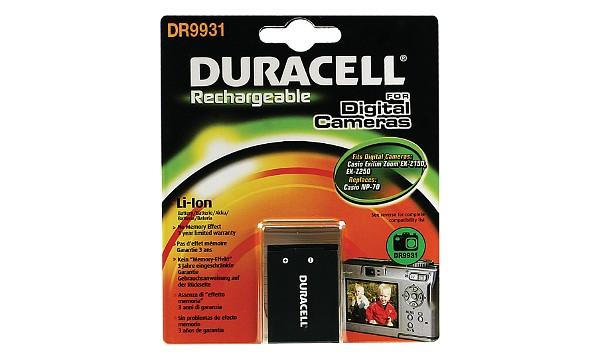 DURACELL Baterie - pro digitání fotoaparát nahrazuje Casio NP-70 - DR9931