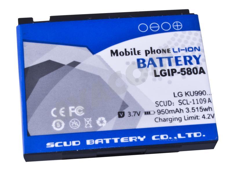 Náhradní baterie AVACOM Baterie do mobilu LG KU990 Li-Ion 3,7V 950mAh (náhrada LGIP-580A) - GSLG-KU990-S950