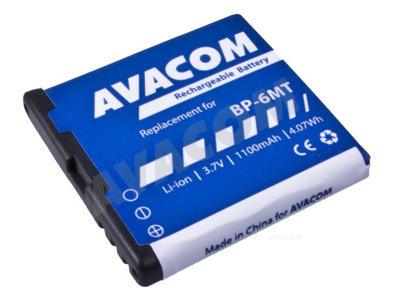 Náhradní baterie AVACOM Baterie do mobilu Nokia E51, N81, N81 8GB, N82, Li-Ion 3,6V 1100mAh (náh - GSNO-BP6MT-S1100A