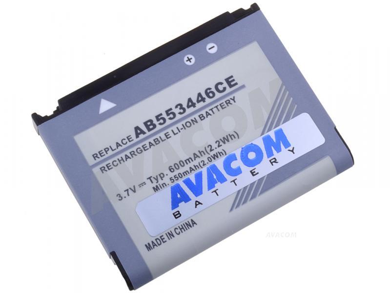 Náhradní baterie AVACOM Baterie do mobilu Samsung SGH-F480 Li-Ion 3,7V 600mAh (náhrada AB553446CE) - GSSA-F480-1000