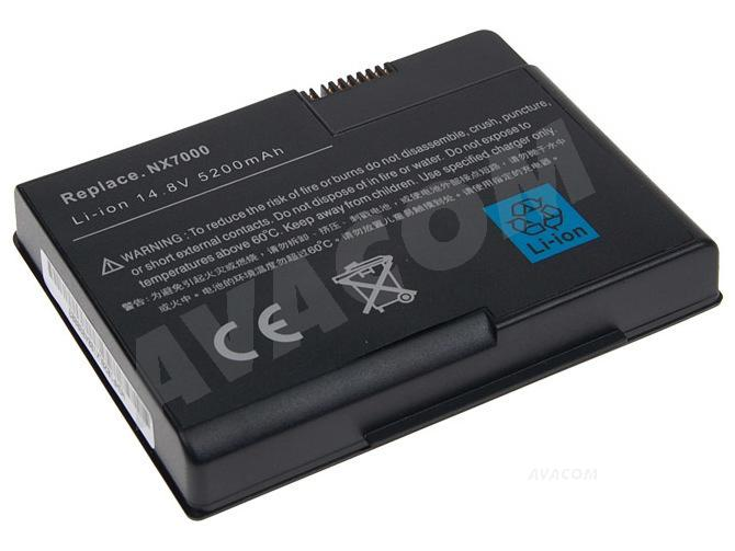 Náhradní baterie AVACOM HP Compaq NX7000/7010 Li-Ion 14,8V 5200mAh cS - NOHP-nx70-S26