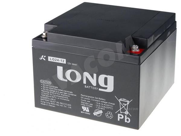 Baterie Long 12V 24Ah olověný akumulátor DeepCycle GEL F3 - PBLO-12V024-F3GD