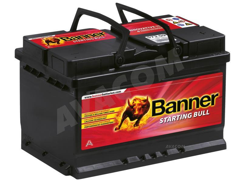 Autobaterie Banner 12V 72Ah (57212) - Starting Bull (start. proud 640A) - PBBA-12V072-SB-ATB
