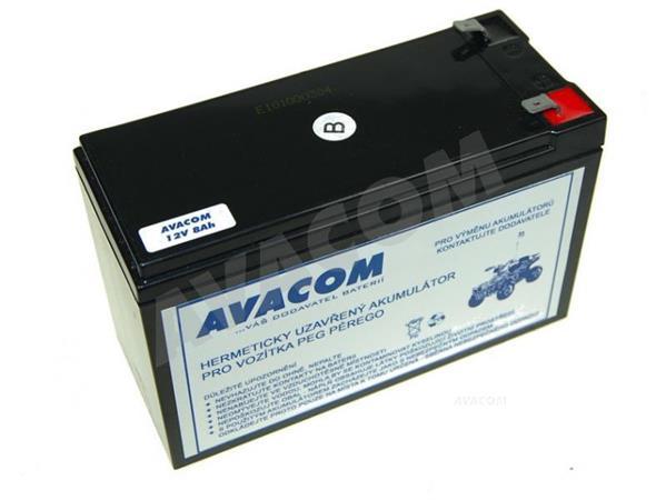 AVACOM Náhradní baterie (olověný akumulátor) 12V 8Ah do vozítka Peg Pérego F2 - PBPP-12V008-F2W