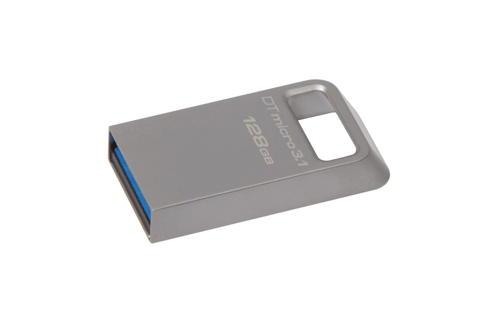 KINGSTON 128GB DTMicro USB 3.1/3.0 Type-A metal ultra-compact flash drive - DTMC3/128GB