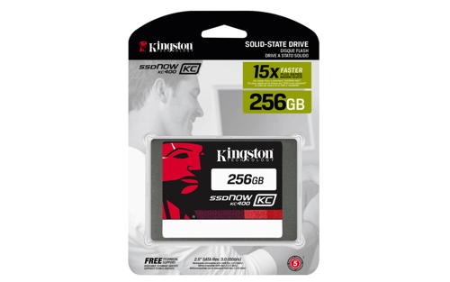 Kingston Flash SSD 256GB SSDNow KC400 SSD SATA 3 2.5 (7mm height) - SKC400S37/256G