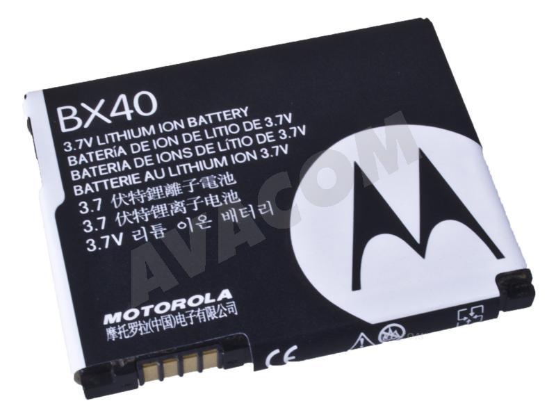 Originální baterie Motorola BX40 Li-ion 3,7V 740mAh U9, V8, V9, V9x, bulk - BX40 Bulk