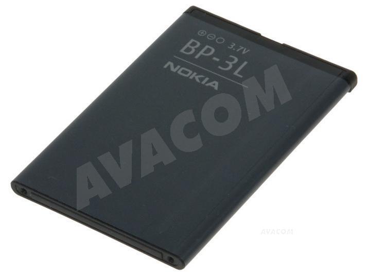 Originální baterie Nokia BP-3L Li-pol 3,7V 1300mAh pro Lumia 710, bulk - BP-3L Bulk