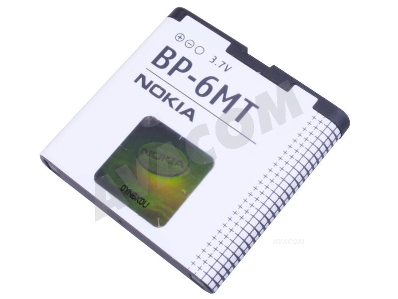 Originální baterie Nokia BP-6MT Li-ion 3,6V 1050mAh Nokia E51, N81, N81 8GB, N82, Bulk - BP-6MT Bulk