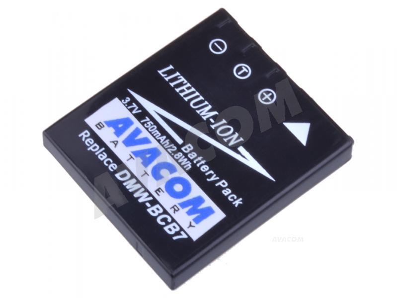 Náhradní baterie AVACOM Panasonic CGA-S004, DMW-BCB7 Li-ion 3.7V 750mAh 2.8Wh - DIPA-S004-532