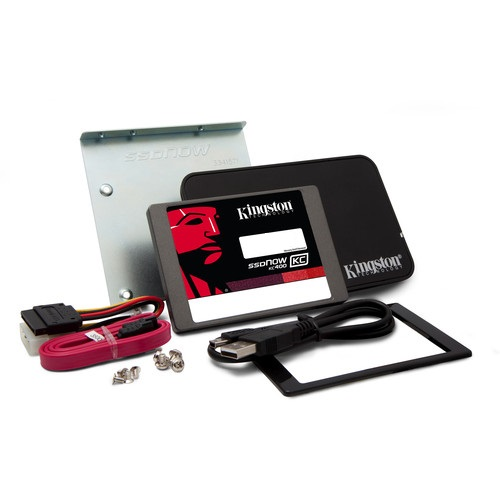Kingston Flash SSD 256GB SSDNow KC400 SSD SATA 3 2.5 (7mm height) Upgrade Bundle Kit - SKC400S3B7A/256G