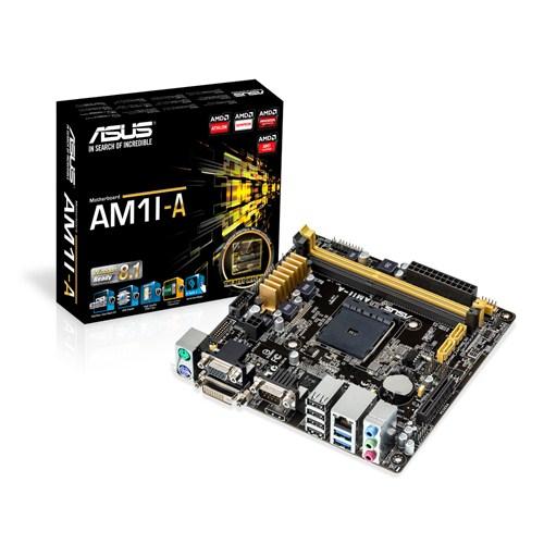 ASUS AM1I-A, AM1, AMD, 2xDDR3, PCIe 2.0, 2xSATA 6Gb/s, DVI, D-sub, HDMI, 8CH, mITX - 90MB0IA0-M0EAY1