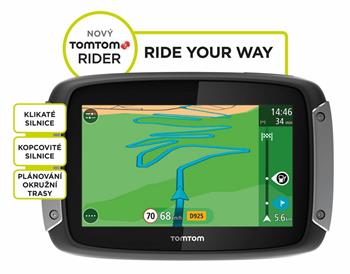 TomTom Rider 400 EU Premium Pack pro motocykly LIFETIME mapy - 1GE0.002.01