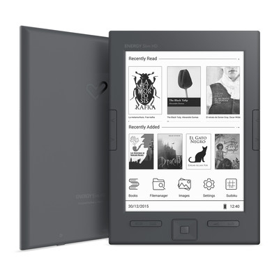 "ENERGY eReader Slim HD (6"" HD e-ink Carta 758x1024, 16 odstínů šedi, 8GB, podpora Adobe DRM) - 425051"