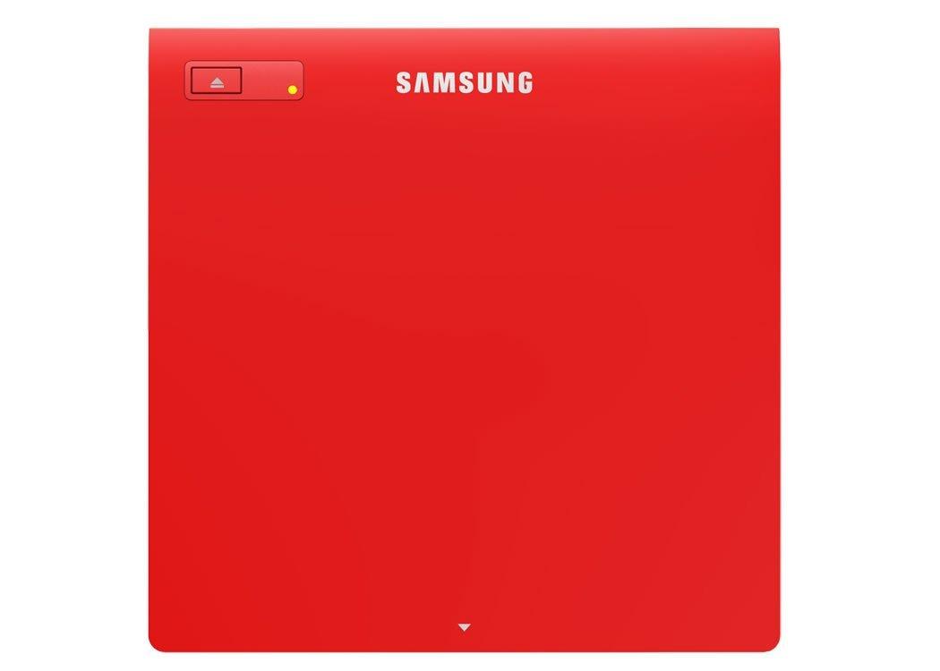 Samsung External DVD±R/±RW 12,7 mm SLIM, USB, Red - SE-208GB/RSRDE