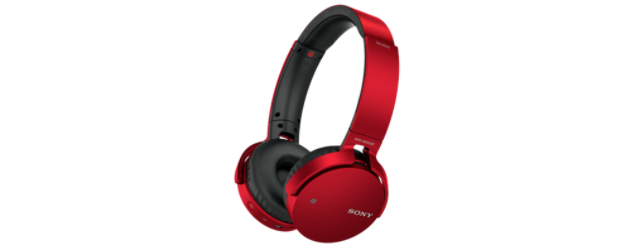 SONY MDR-XB650BT Sluchátka Bluetooth® EXTRA BASS - Red - MDRXB650BTR.CE7