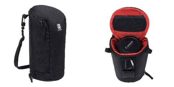 Crumpler Base Layer Lens Case XL - black/rust red - BLLC-XL-001