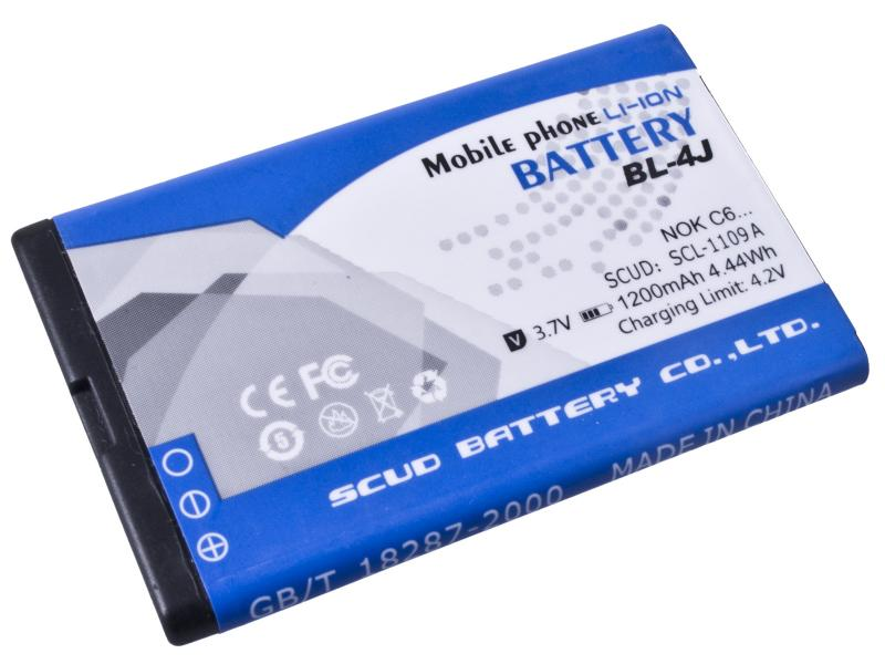 Baterie do mobilu Nokia C6, Li-Ion 3,7V 1200mAh (náhrada BL-4J) - GSNO-BL4J-S1200A