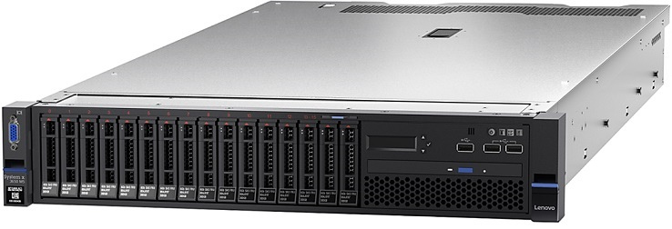 System x3650 M5, Xeon 8C E5-2667 v4 135W 3.2GHz/2400MHz/25MB, 1x16GB, O/Bay HS 2.5in SAS/SATA, M5210 - 8871R2G