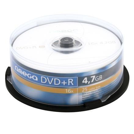 OMEGA DVD+R 4,7GB 16X CAKE*25 - OMD1625+