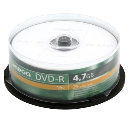 OMEGA DVD-R 4,7GB 16X CAKE*25 - OMD1625-