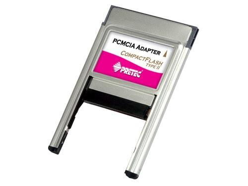 Pretec CompactFlash Type I/II PCMCIA Adapter - PCACFA+