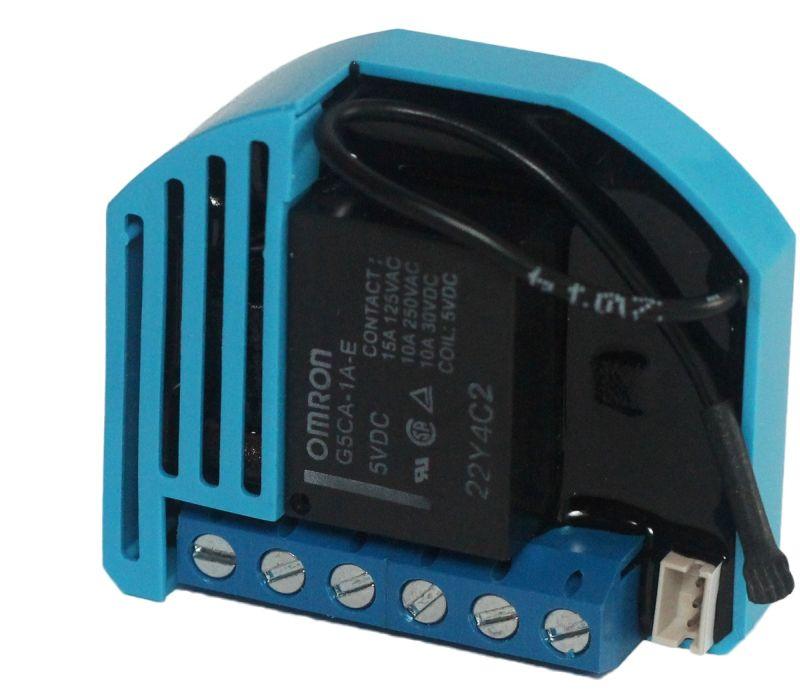 QUBINO spínač, 1x 230V, měření spotřeby, připojení tep. senzoru, Z-Wave plus - ZMNHAD1