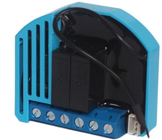 QUBINO spínač, 2x 230V, měření spotřeby, připojení tep. senzoru, Z-Wave plus - ZMNHBD1