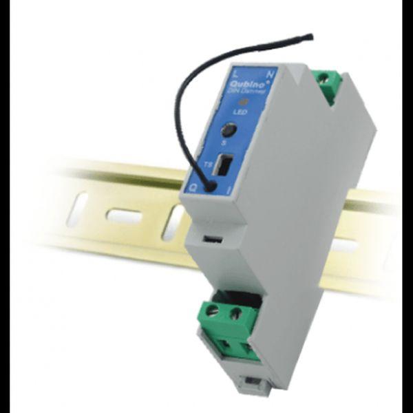 QUBINO stmívač, DIN lišta, 1x 230V, měření spotřeby, Z-Wave plus - ZMNHSD1