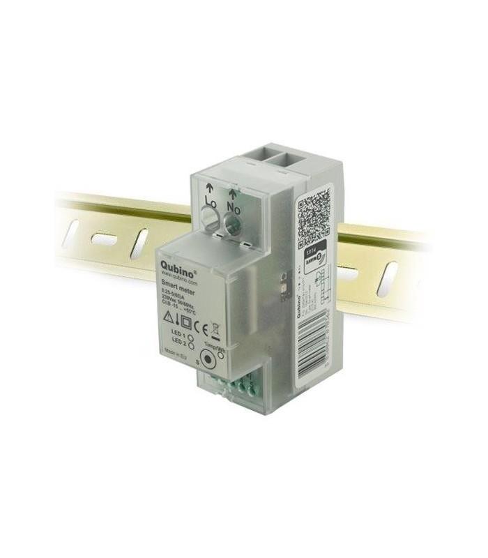 QUBINO inteligentní měřič průtoku proudu, DIN lišta, 1x 230V, měření spotřeby, Z-Wave plus - ZMNHTD1