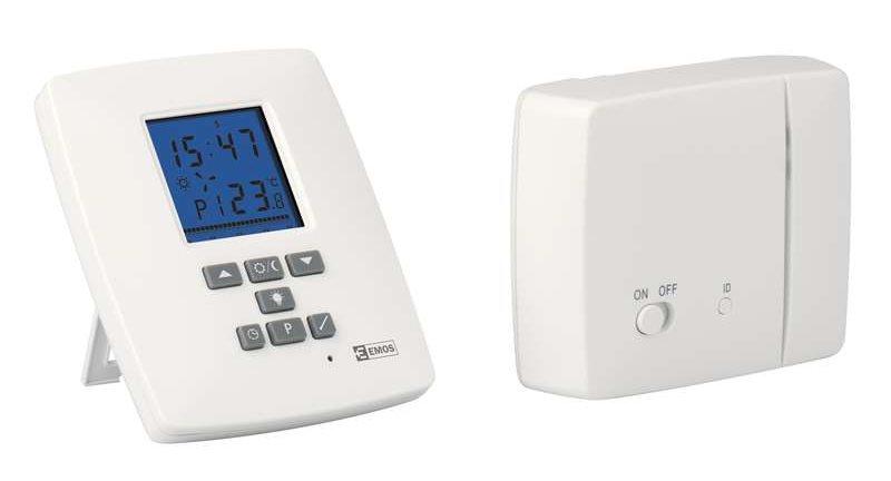 Emos T15RF pokojový termostat, programovatelný, bezdrátový - 2101304010