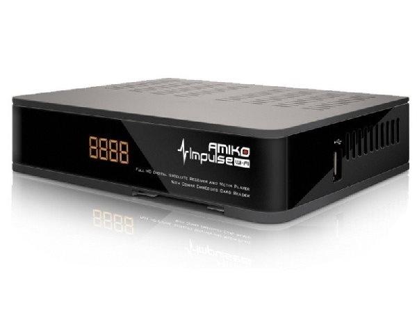 AMIKO DVB-S2 HD přijímač Impulse wifi/ Full HD/ MPEG2/ MPEG4/ HDMI/ USB/ PVR/ SCART/ Wi-Fi - DBSAMHC031
