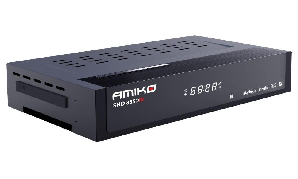 AMIKO DVB-S2 přijímač SHD 8550 IR/ Full HD/ Skylink ready/ Irdeto/ MPEG2/ MPEG4/ PVR/ HDMI/ USB/ LAN - DBSAMIRDETO