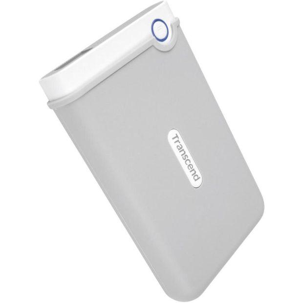"""TRANSCEND 2TB StoreJet 100, USB 3.0, 2.5"""" Externí odolný hard disk pro MAC, šedo/bílý - TS2TSJM100"""